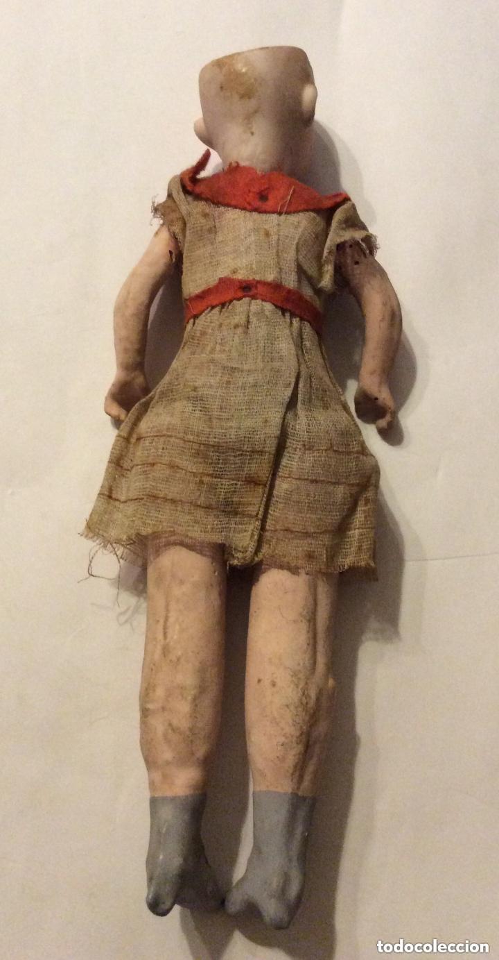 Muñecas Porcelana: ANTIGUA MUÑECA CARA PORCELANA Y CUERPO CARTON Y MADERA - 1904 EDUARDO JUAN MADE IN AUSTRIA - Foto 8 - 193084282