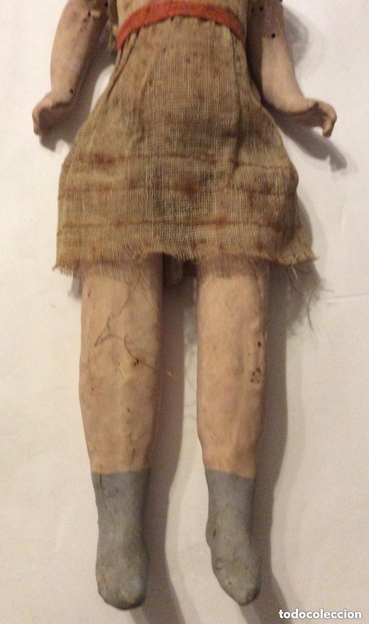 Muñecas Porcelana: ANTIGUA MUÑECA CARA PORCELANA Y CUERPO CARTON Y MADERA - 1904 EDUARDO JUAN MADE IN AUSTRIA - Foto 9 - 193084282