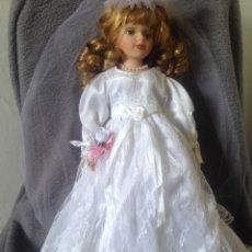 Muñecas Porcelana: MUÑECA DE PORCELANA VESTIDA DE NOVIA. Lote 193087033