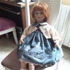 Muñecas Porcelana: ANTIGUA MUÑECA DE PORCELANA GRANDE 65 CM. APROXMADAMENTE. Lote 193761336