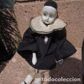 PIERROT MUÑECO FIGURA DE PORCELANA (Juguetes - Muñeca Extranjera Moderna - Porcelana)
