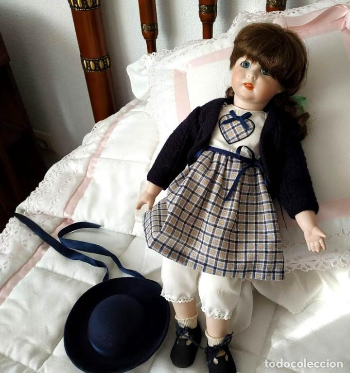 Muñecas Porcelana: LA COLEGIALA, MUÑECA DE PORCELANA ARTICULADA por Mercedes Sos - Foto 6 - 194013013