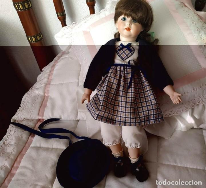 Muñecas Porcelana: LA COLEGIALA, MUÑECA DE PORCELANA ARTICULADA por Mercedes Sos - Foto 10 - 194013013