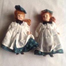 Muñecas Porcelana: PEQUEÑAS MUÑECAS PORCELANA ANTIGUAS. Lote 194111766
