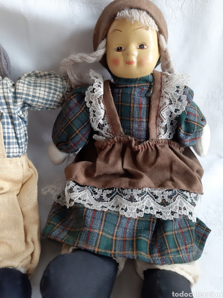 Muñecas Porcelana: ANTIGUOS MUÑECOS DE TRAPO Y PORCELANA - Foto 3 - 194488935