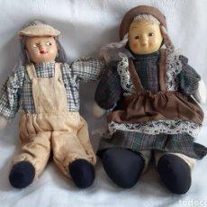 Muñecas Porcelana: ANTIGUOS MUÑECOS DE TRAPO Y PORCELANA. Lote 194488935