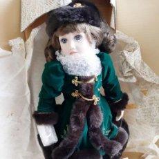 Muñecas Porcelana: FRANKLIN HEIRLOOM MUÑECA PORCELANA NUEVA EN SU CAJA - 45.CM ALTO APROX. Lote 195498195