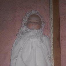 Muñecas Porcelana: MUÑECA MUÑECO BEBE DE PORCELANA MARCADO JAPAN NUCA.. Lote 197571877