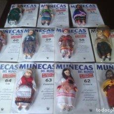 Muñecas Porcelana: GRAN LOTE 59 MUÑECAS DEL MUNDO DE AUTÉNTICA PORCELANA (RBA). Lote 200000720