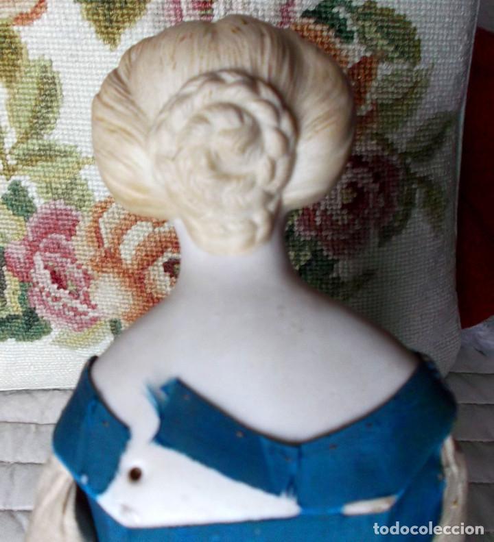 Muñecas Porcelana: Preciosa muñeca Parian hacia 1870, elaborado peinado, cuerpo original, vestida completa - Foto 10 - 201963712