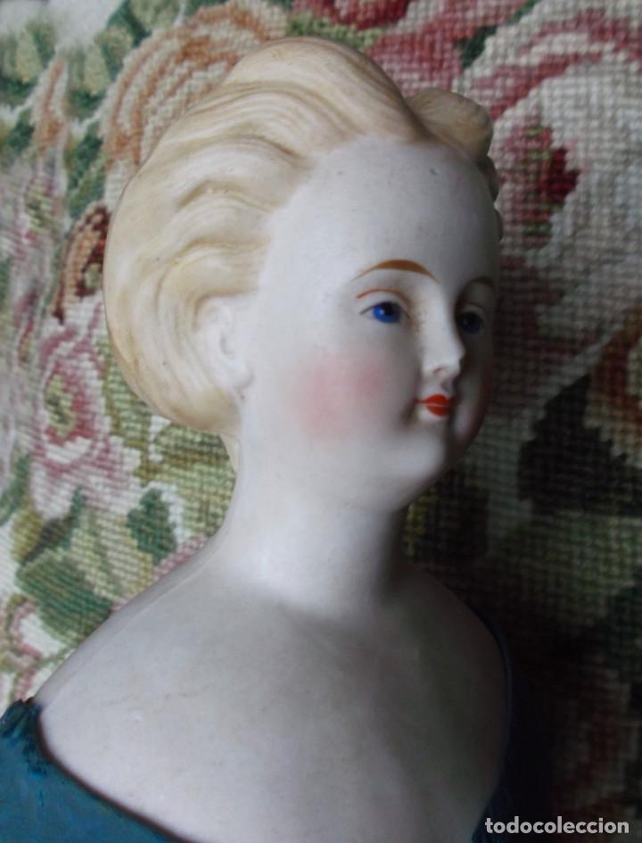 Muñecas Porcelana: Preciosa muñeca Parian hacia 1870, elaborado peinado, cuerpo original, vestida completa - Foto 11 - 201963712