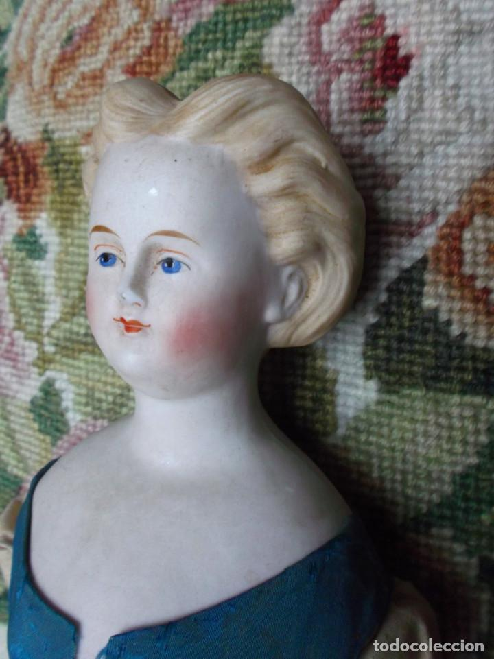 Muñecas Porcelana: Preciosa muñeca Parian hacia 1870, elaborado peinado, cuerpo original, vestida completa - Foto 12 - 201963712