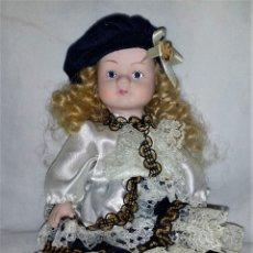 Muñecas Porcelana: PEQUEÑA MUÑECA DE PORCELANA ARTESANAL. Lote 202275228