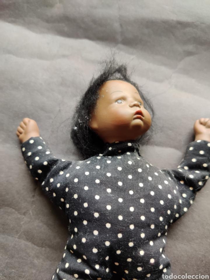 Muñecas Porcelana: Bebé mulato cabeza y manos de porcelana 18 cm - Foto 3 - 203939908
