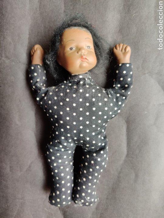 Muñecas Porcelana: Bebé mulato cabeza y manos de porcelana 18 cm - Foto 2 - 203939908