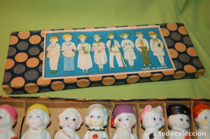Muñecas Porcelana: caja de muñequitas de porcelana antiguas japan - Foto 2 - 204338472