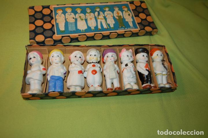 Muñecas Porcelana: caja de muñequitas de porcelana antiguas japan - Foto 3 - 204338472