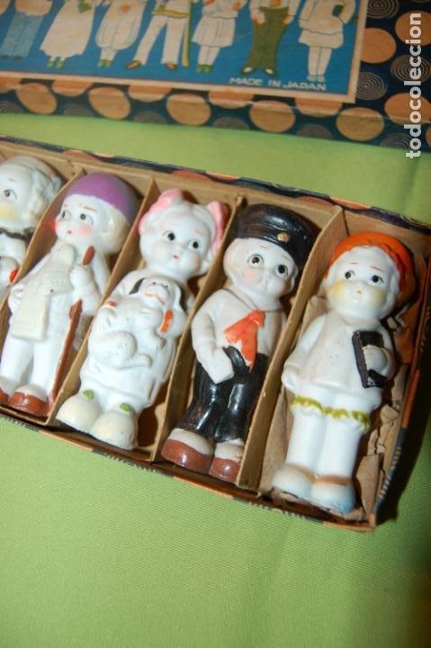 Muñecas Porcelana: caja de muñequitas de porcelana antiguas japan - Foto 4 - 204338472