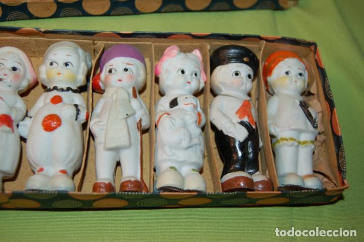 Muñecas Porcelana: caja de muñequitas de porcelana antiguas japan - Foto 9 - 204338472