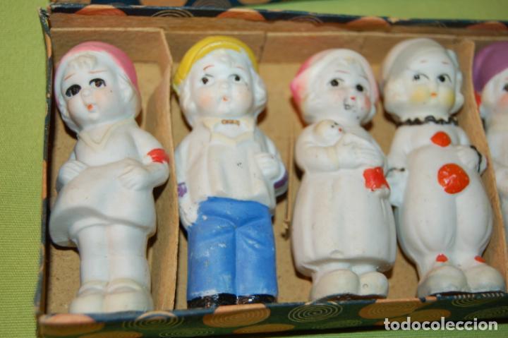 Muñecas Porcelana: caja de muñequitas de porcelana antiguas japan - Foto 10 - 204338472