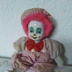 Muñecas Porcelana: MUÑECO PAYASO DE PORCELANA CON CUERPO DE TRAPO. Lote 204826545