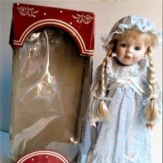 Muñecas Porcelana: MUÑECA PORCELANA BRITANICA - 45.CM ALTO. Lote 204838141