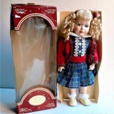 Muñecas Porcelana: LUJO DE MUÑECA PORCELANA BRITANICA - 46.CM ALTO. Lote 205068743