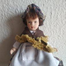 Muñecas Porcelana: MUÑECA DE PORCELANA CASTAÑERA. Lote 205517152