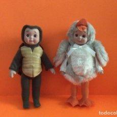 Muñecas Porcelana: MUÑECAS DE CUENTO , GOOGLY PATO Y TORTUGA. Lote 205564945