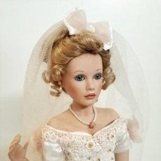 Muñecas Porcelana: BONITA FIGURA PORCELANA VESTIDO NOVIA ELISABETH EN CAJA ASHTON DRAKE. Lote 205646598