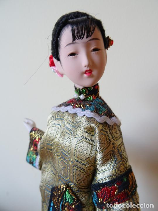 PRECIOSA MUÑECA ORIENTAL DE PORCELANA CHINA O JAPONESA (Juguetes - Muñeca Extranjera Moderna - Porcelana)