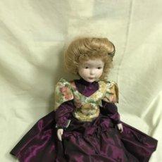 Muñecas Porcelana: MUÑECA PORCELANA AÑOS 80. GRANDE, 55 CM. VESTIDA ÉPOCA. A ESTRENAR. Lote 205826956