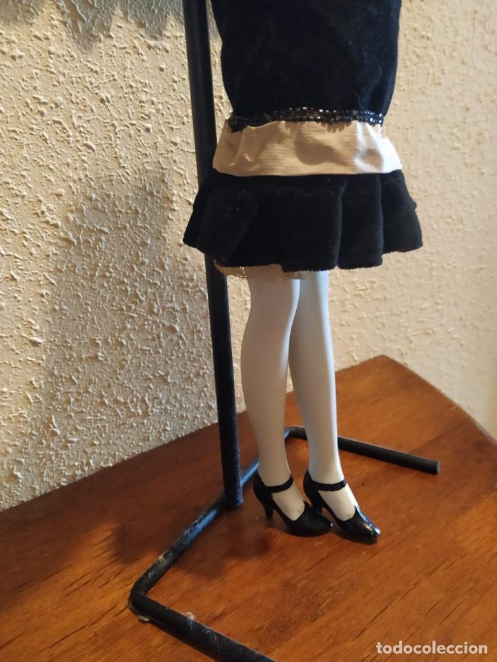 Muñecas Porcelana: Muñeca boudoir de trapo francesa biscuit seda y terciopelo años 20 boadir - Foto 2 - 206131297