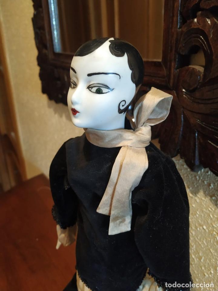 Muñecas Porcelana: Muñeca boudoir de trapo francesa biscuit seda y terciopelo años 20 boadir - Foto 3 - 206131297