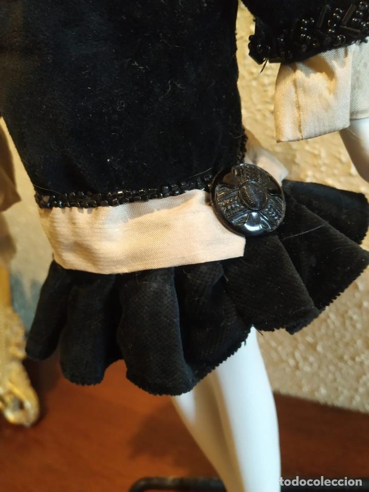 Muñecas Porcelana: Muñeca boudoir de trapo francesa biscuit seda y terciopelo años 20 boadir - Foto 4 - 206131297