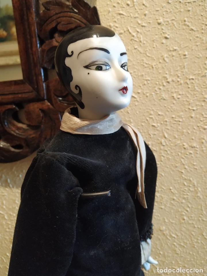 Muñecas Porcelana: Muñeca boudoir de trapo francesa biscuit seda y terciopelo años 20 boadir - Foto 5 - 206131297