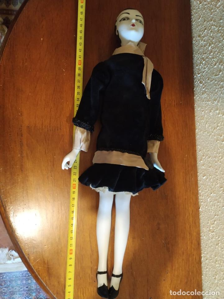 Muñecas Porcelana: Muñeca boudoir de trapo francesa biscuit seda y terciopelo años 20 boadir - Foto 6 - 206131297