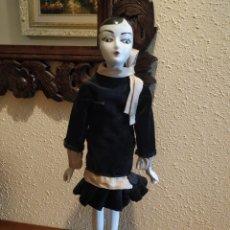 Muñecas Porcelana: MUÑECA BOUDOIR DE TRAPO FRANCESA BISCUIT SEDA Y TERCIOPELO AÑOS 20 BOADIR. Lote 206131297