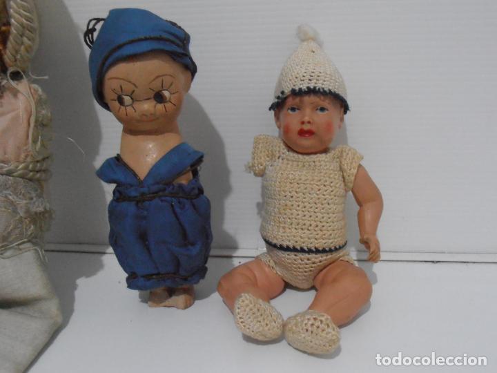 Muñecas Porcelana: LOTE DE 3 MUÑECAS, TELA, PORCELANA Y COMPOSICION, CON TARAS - Foto 2 - 206159865