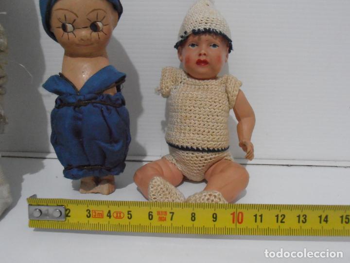 Muñecas Porcelana: LOTE DE 3 MUÑECAS, TELA, PORCELANA Y COMPOSICION, CON TARAS - Foto 3 - 206159865