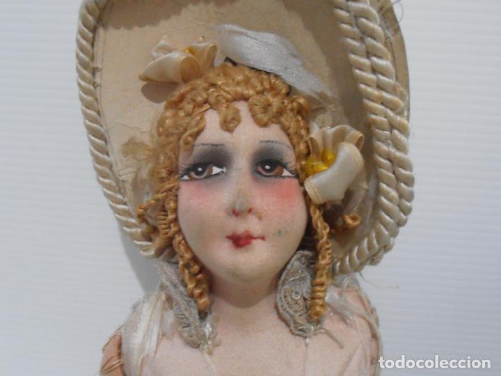 Muñecas Porcelana: LOTE DE 3 MUÑECAS, TELA, PORCELANA Y COMPOSICION, CON TARAS - Foto 4 - 206159865