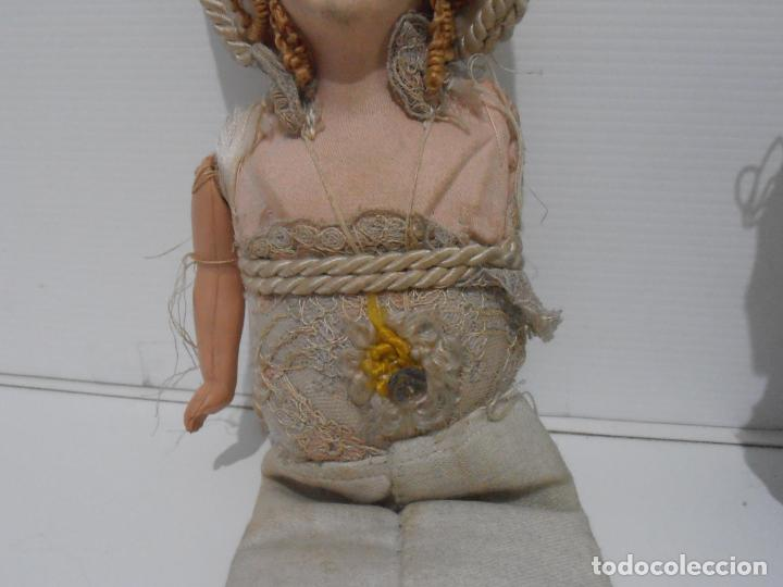 Muñecas Porcelana: LOTE DE 3 MUÑECAS, TELA, PORCELANA Y COMPOSICION, CON TARAS - Foto 5 - 206159865