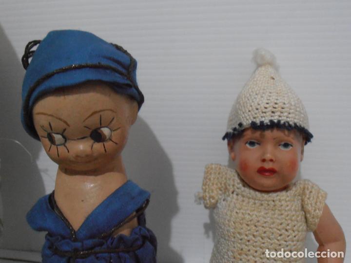Muñecas Porcelana: LOTE DE 3 MUÑECAS, TELA, PORCELANA Y COMPOSICION, CON TARAS - Foto 6 - 206159865
