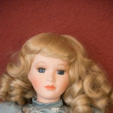 Muñecas Porcelana: MUÑECA EN PERFECTAS CONDICIONES, CARA Y MANOS DE PORCELANA. Lote 206567266