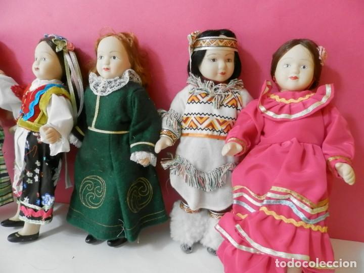 Muñecas Porcelana: LOTE DE 5 MUÑECAS DE PORCELANA TRAJES REGIONALES. PAISES. COLECCIONISTAS - Foto 4 - 208678075