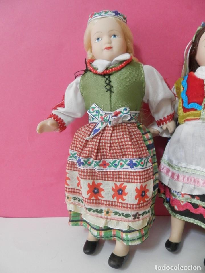 Muñecas Porcelana: LOTE DE 5 MUÑECAS DE PORCELANA TRAJES REGIONALES. PAISES. COLECCIONISTAS - Foto 5 - 208678075