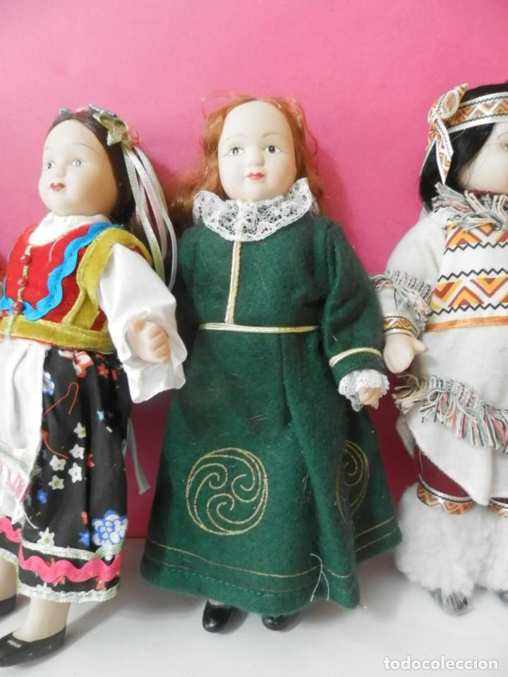 Muñecas Porcelana: LOTE DE 5 MUÑECAS DE PORCELANA TRAJES REGIONALES. PAISES. COLECCIONISTAS - Foto 7 - 208678075