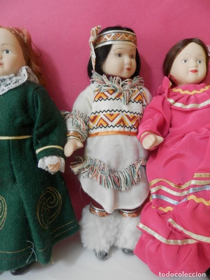 Muñecas Porcelana: LOTE DE 5 MUÑECAS DE PORCELANA TRAJES REGIONALES. PAISES. COLECCIONISTAS - Foto 8 - 208678075