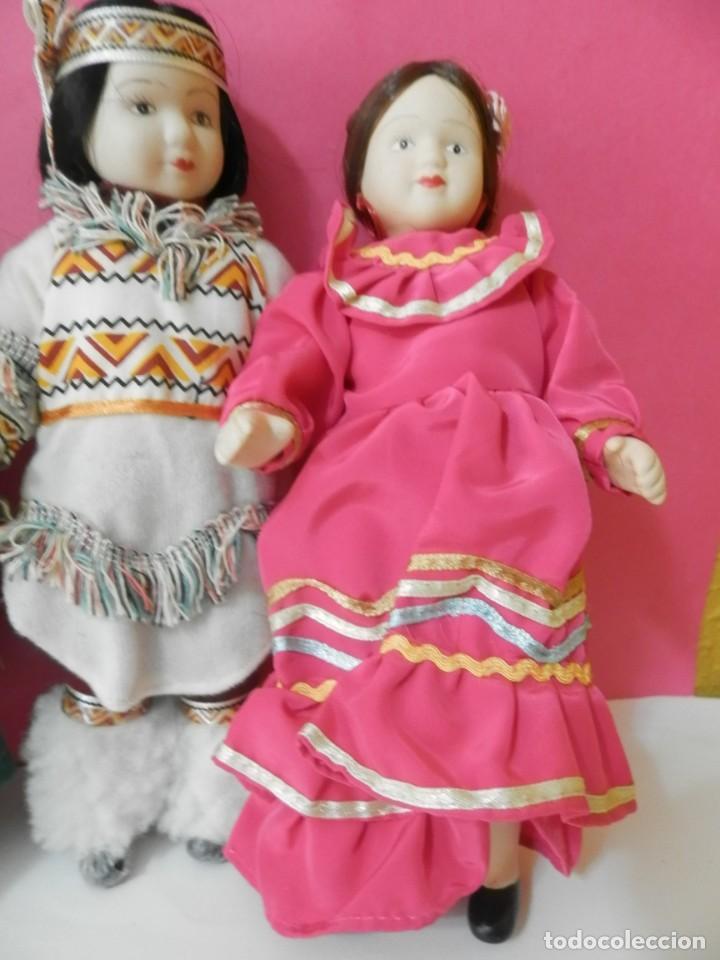 Muñecas Porcelana: LOTE DE 5 MUÑECAS DE PORCELANA TRAJES REGIONALES. PAISES. COLECCIONISTAS - Foto 9 - 208678075