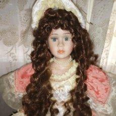 Muñecas Porcelana: MAJESTUOSA MUÑECA DE PORCELANA. Lote 210395048